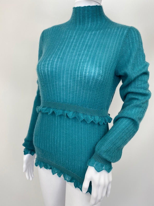 Cashmere Turtleneck With Ruffles