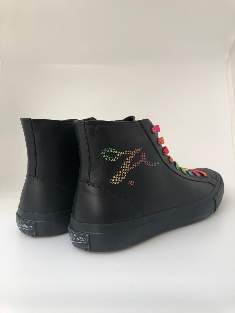 Louis Vuitton Tattoo Sneaker Boot Multicolor - Luxuria & Co.