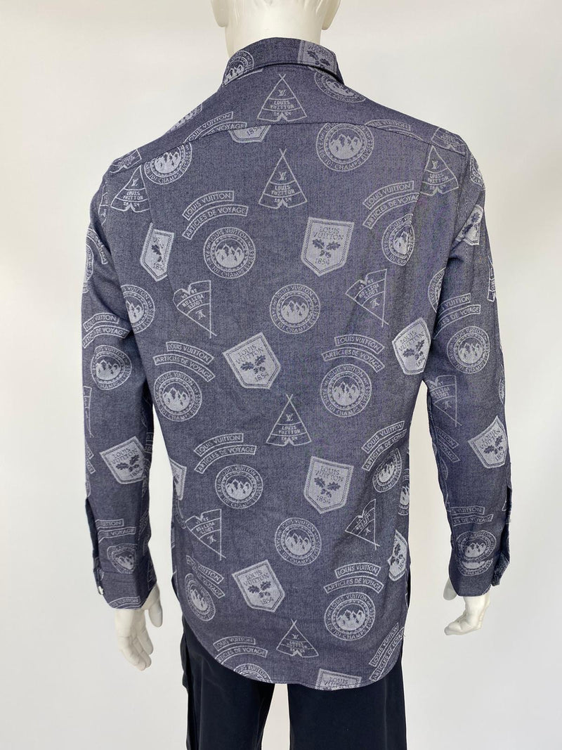 Regular Fit Classic Shirt With Stamps
