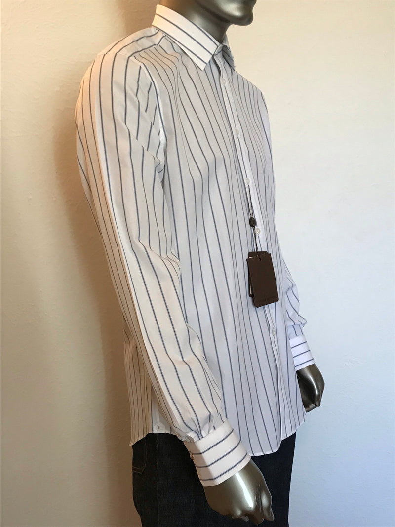 Louis Vuitton Blue & Black Stripe Shirt - Luxuria & Co.
