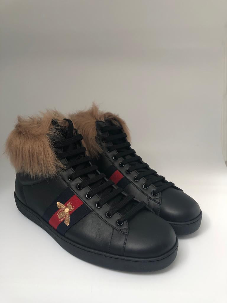 Ace High-Top Sneaker With Fur
