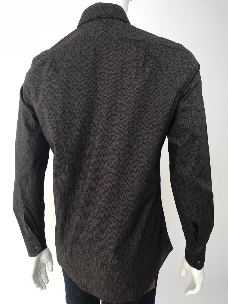 Berluti Classic Long Sleeve Button Down Rope Motif Shirt - Luxuria & Co.