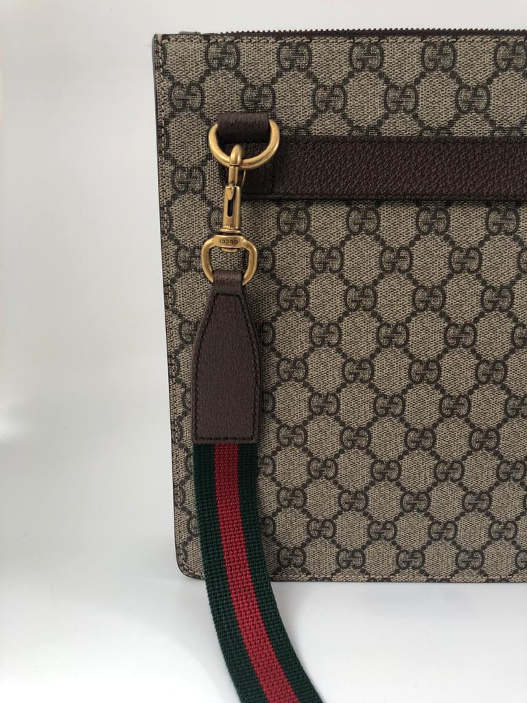 Gucci Courrier Messenger Bag GG Coated Canvas With Applique - Luxuria & Co.