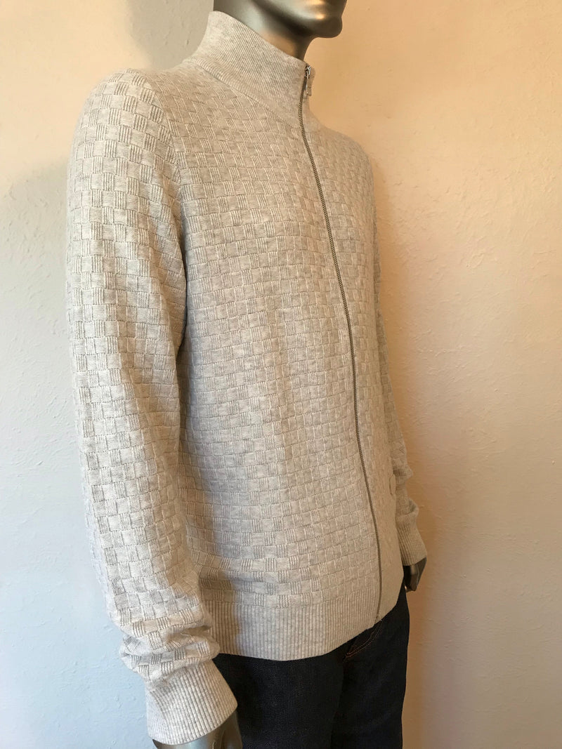 Louis Vuitton Damier Zip Up Cardigan - Luxuria & Co.