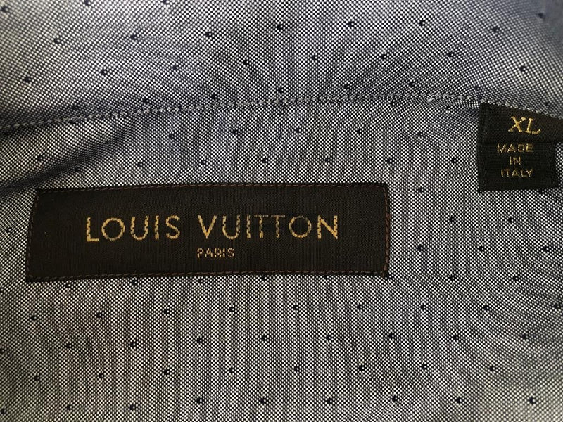 Louis Vuitton Button Down Emblem Shirt - Luxuria & Co.
