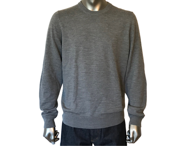 Louis Vuitton Leather Patch Crewneck Sweater - Luxuria & Co.