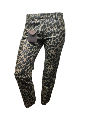 Louis Vuitton Leather Leopard Print Pants - Luxuria & Co.