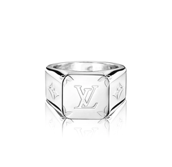 Louis Vuitton Monogram Signet Ring - Luxuria & Co.