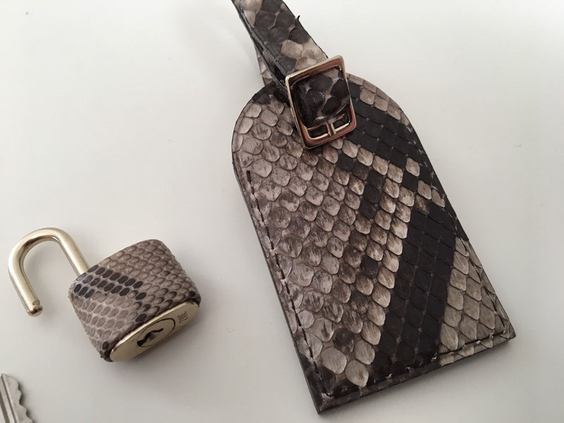 Python Travel Luggage Name Tag & Lock - Luxuria & Co.