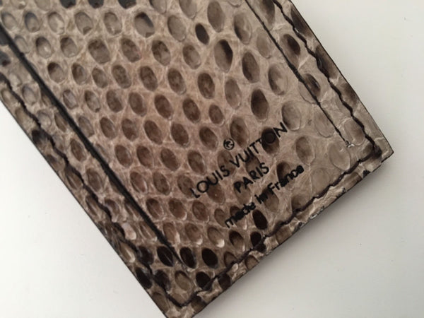 Louis Vuitton Python Travel Luggage Name Tag & Lock - Luxuria & Co.