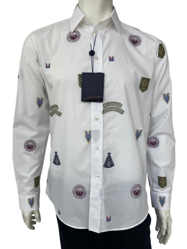 Regular Classic Fit Shirt With Stamps