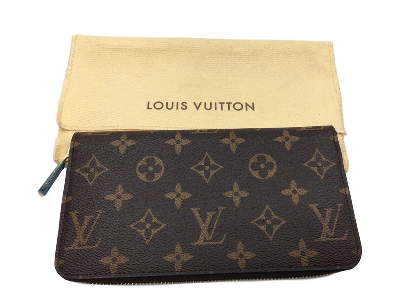 Louis Vuitton Zippy Wallet Monogram Canvas Red Lining - Luxuria & Co.