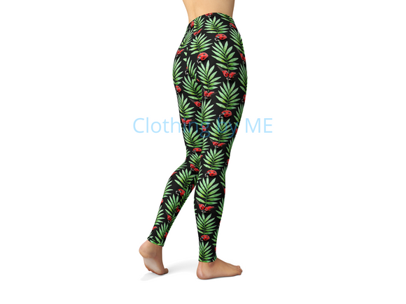 3D Ladybugs Leggings - Adult Leggings