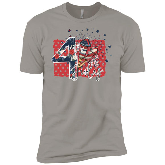 4th of July Premium Short Sleeve Tees - Adult - Premium Short Sleeve T-Shirt / Light Grey / S - T-Shirt