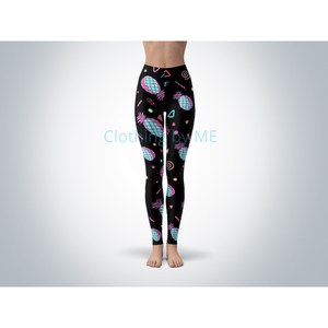 90s Pineapple Leggings - Multi / OS / Regular - Adult Leggings