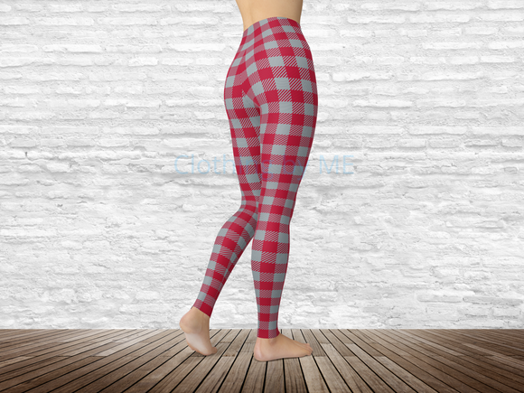 Alabama Football Buffalo Plaid Leggings - Adult Leggings