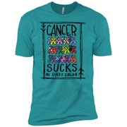 Cancer Sucks in Every Color Premium Short Sleeve Tees – Adult