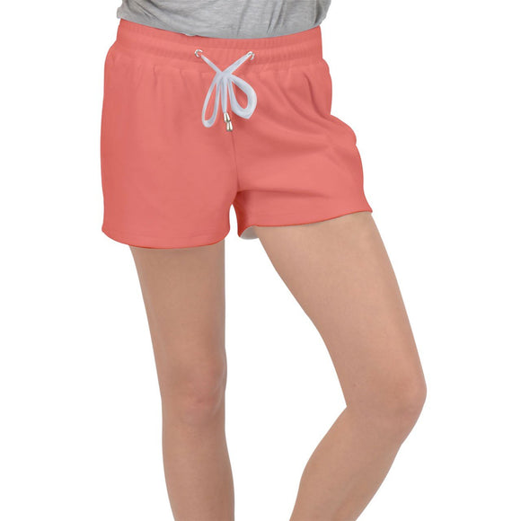 Coral Velour Lounge Shorts - XS - Shorts