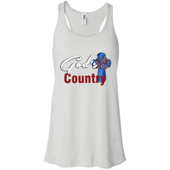 Gods Country Flowy Racerback Tank - White / X-Small - Tank Top