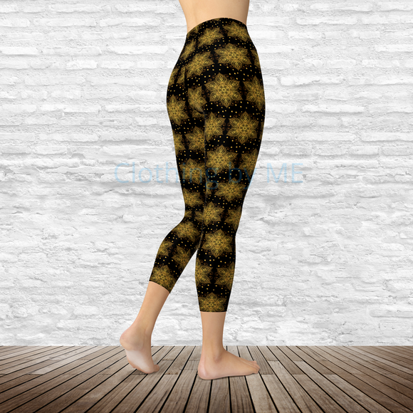 Gold Star - Capri Leggings - Capris
