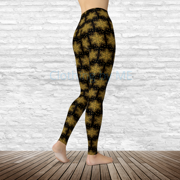 Gold Star Leggings - Adult Leggings