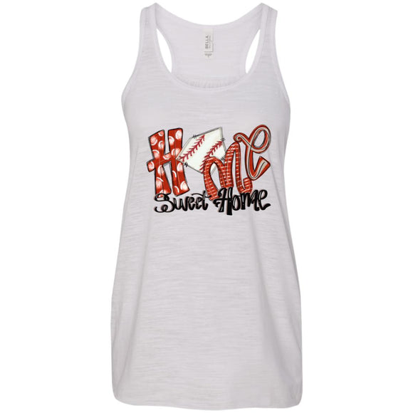 Home Sweet Home Flowy Racerback Tank - Vintage White / X-Small - Tank Top