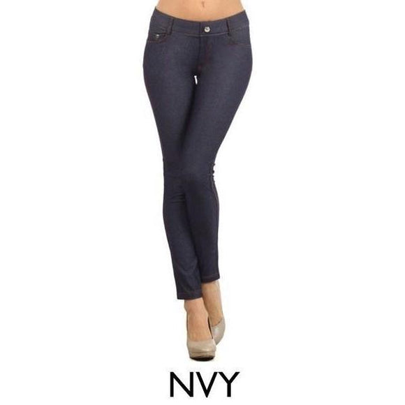 Jegging - Navy - Navy / SM - Pants