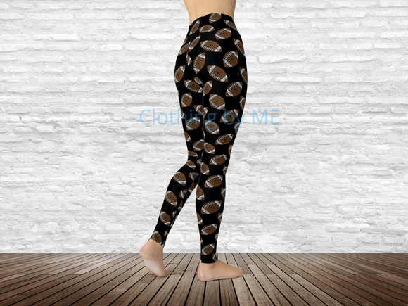 Mandala Football (Black) Leggings - Adult Leggings
