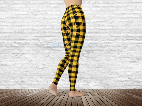 Missouri Football Buffalo Plaid Leggings - Adult Leggings