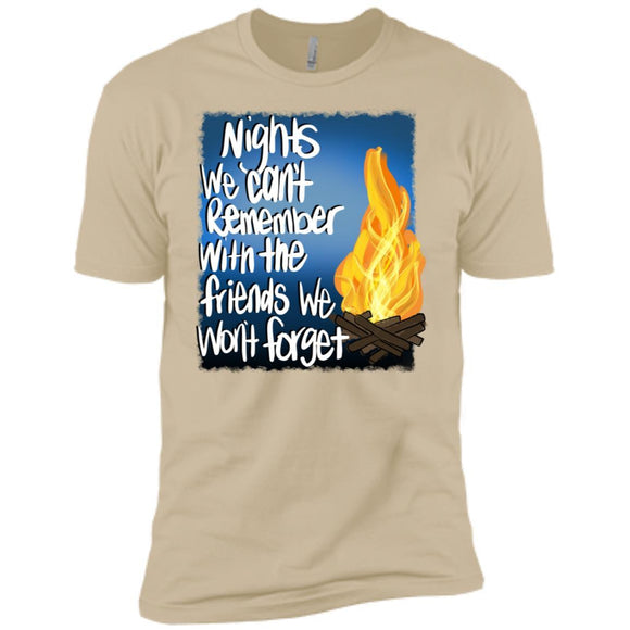 Nights We Cant Remember... Premium Short Sleeve Tees - Adult - Premium Short Sleeve T-Shirt / Sand / S - T-Shirt