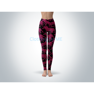 Pink Zebras Leggings - Adult Leggings
