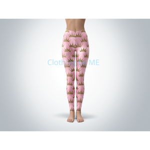 Princess Crowns Leggings - Adult Leggings