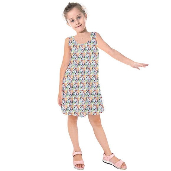 Princesses Sleeveless Dress - Kids - 2 - Kids Dresses