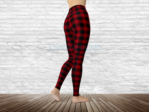 South Carolina Football Buffalo Plaid Leggings - Adult Leggings