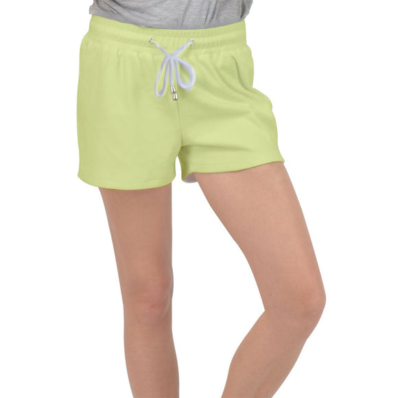 Spring Green Velour Lounge Shorts - XS - Shorts