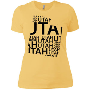 Utah Premium Short Sleeve Tees - Adult - Ladies Boyfriend T-Shirt / Banana Cream / XS - States T-Shirt