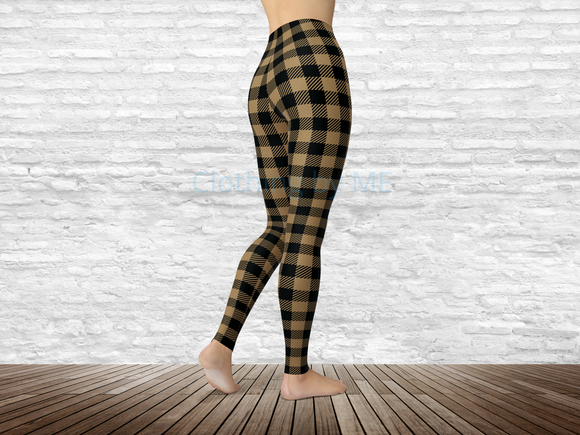 Vanderbilt Football Buffalo Plaid Leggings - Adult Leggings