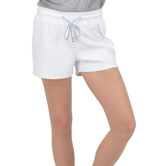 White Velour Lounge Shorts - XS - Shorts