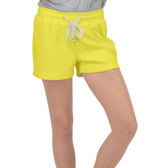 Yellow Velour Lounge Shorts - Shorts