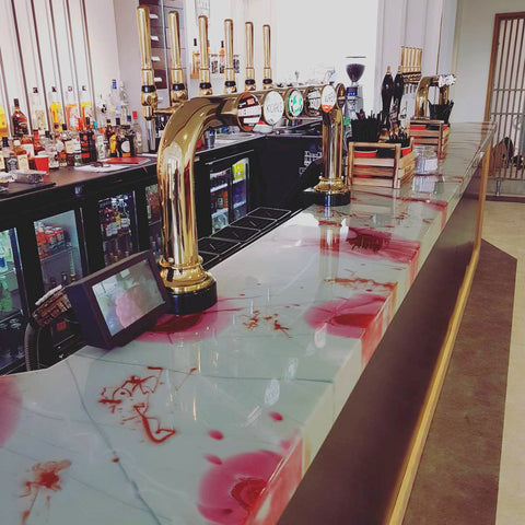 Wax bar and Restaurant Newquay - Custom bar top by The Resin workshop co.