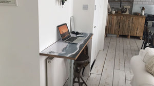 Scandi style resin art desk top