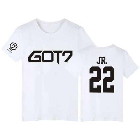 White GOT7 T-Shirt JR