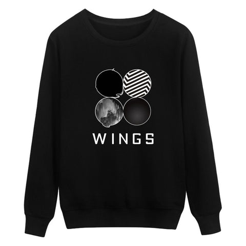 BTS Wings Sweatshirt Black