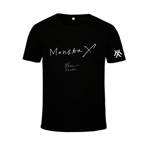 Monsta x Tshirt - Shine Forever Black