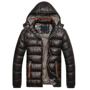 Men Winter Hooded Coat