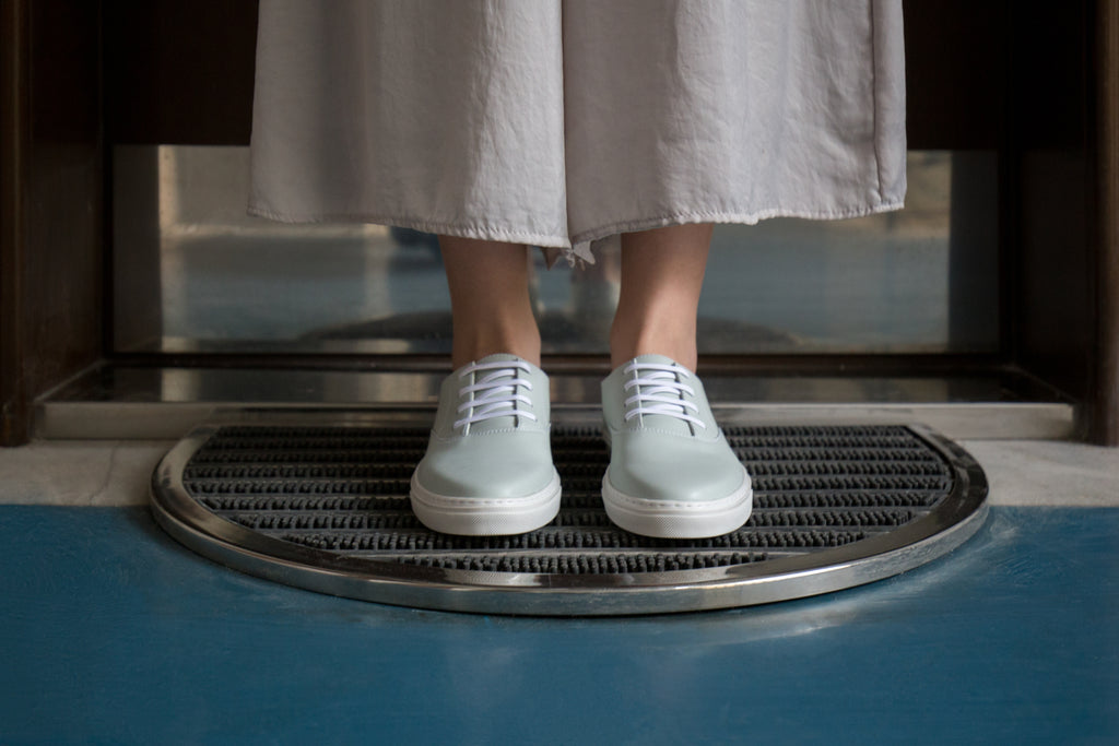 Laika light blue vegan city sneakers