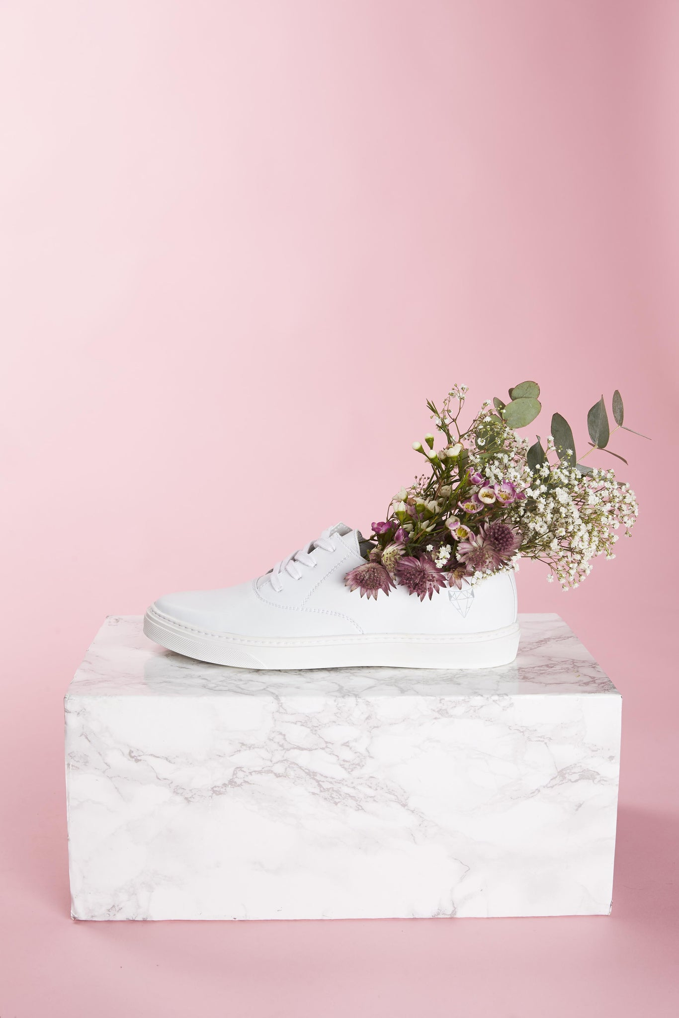 Laika vegan sneakers in white.