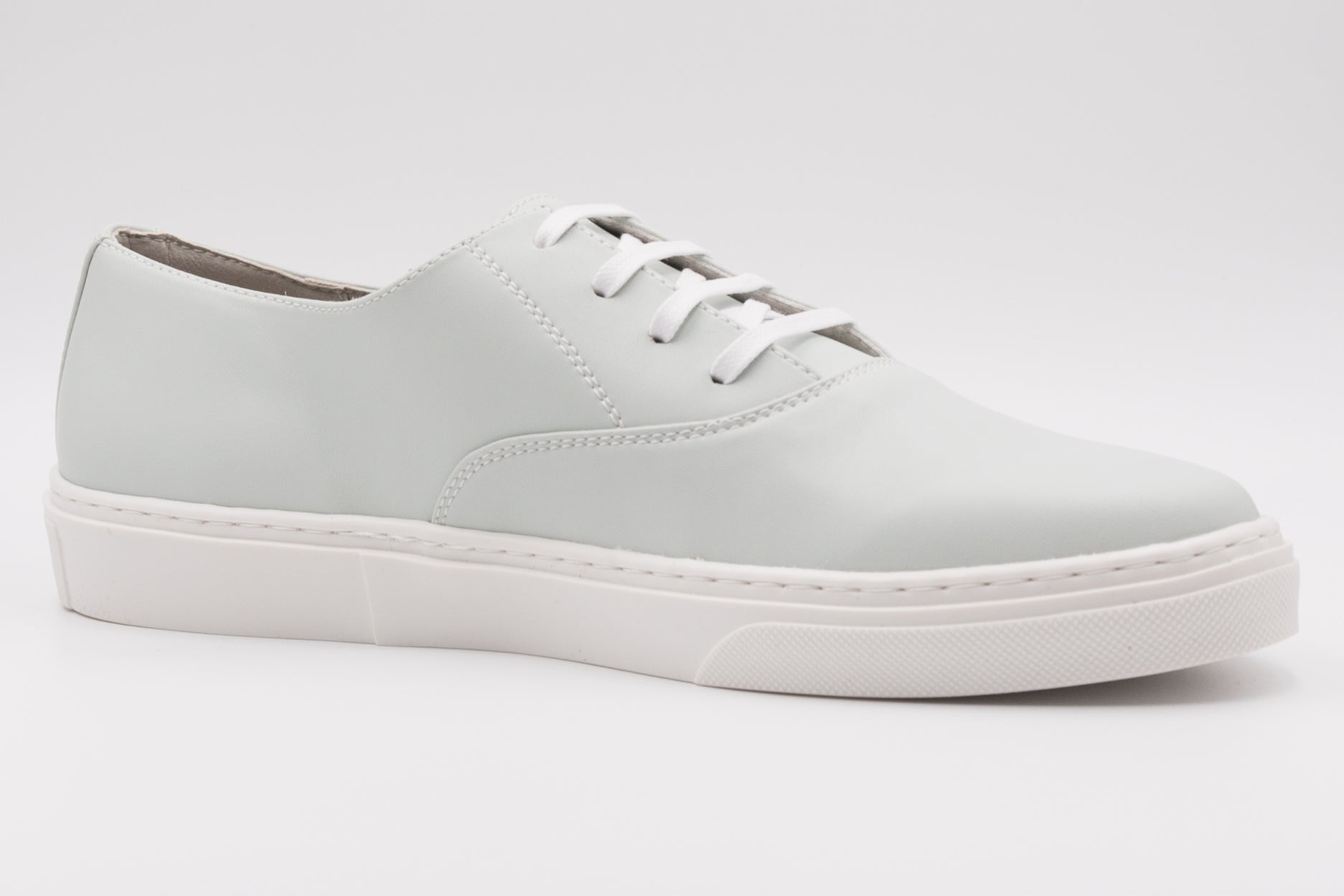 Vegan shoes from Paris, light blue cruelty-free sneakers