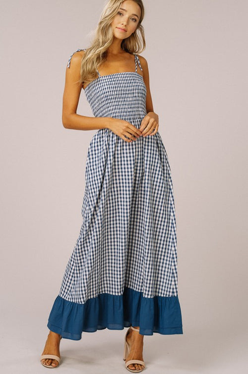 Take Turns Gingham Maxi Dress FINAL SALE