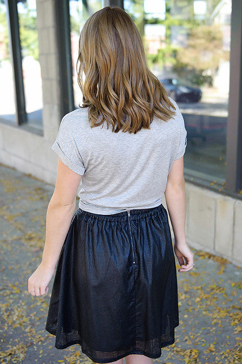 Sk8er Girl Vegan Leather Skirt (Final Sale)